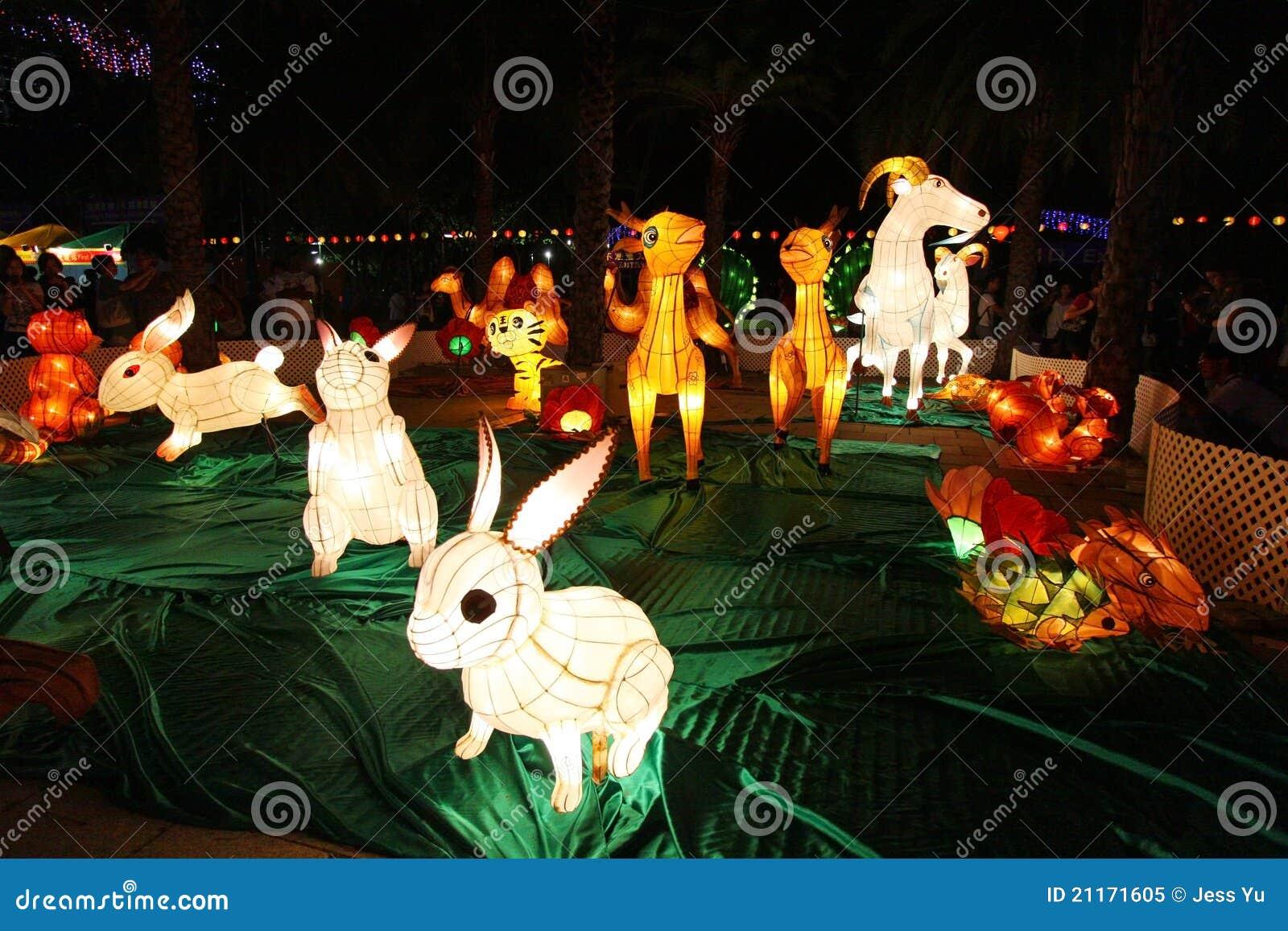Mittler-Herbst Laterne-Karneval in Hong Kong