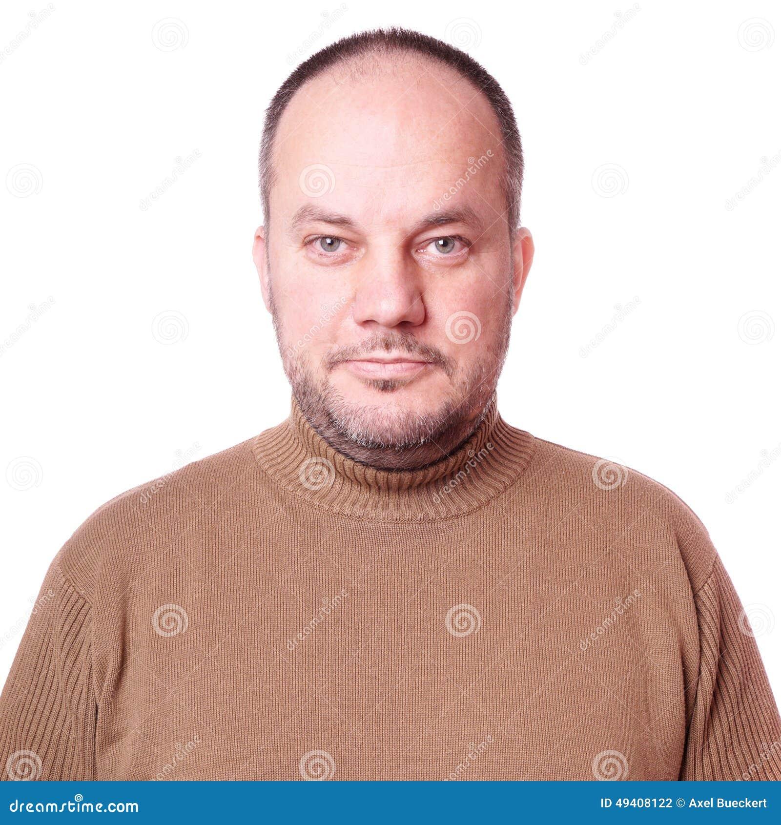 Download Mittlerer gealterter Mann stockfoto. Bild von überzeugt - 49408122