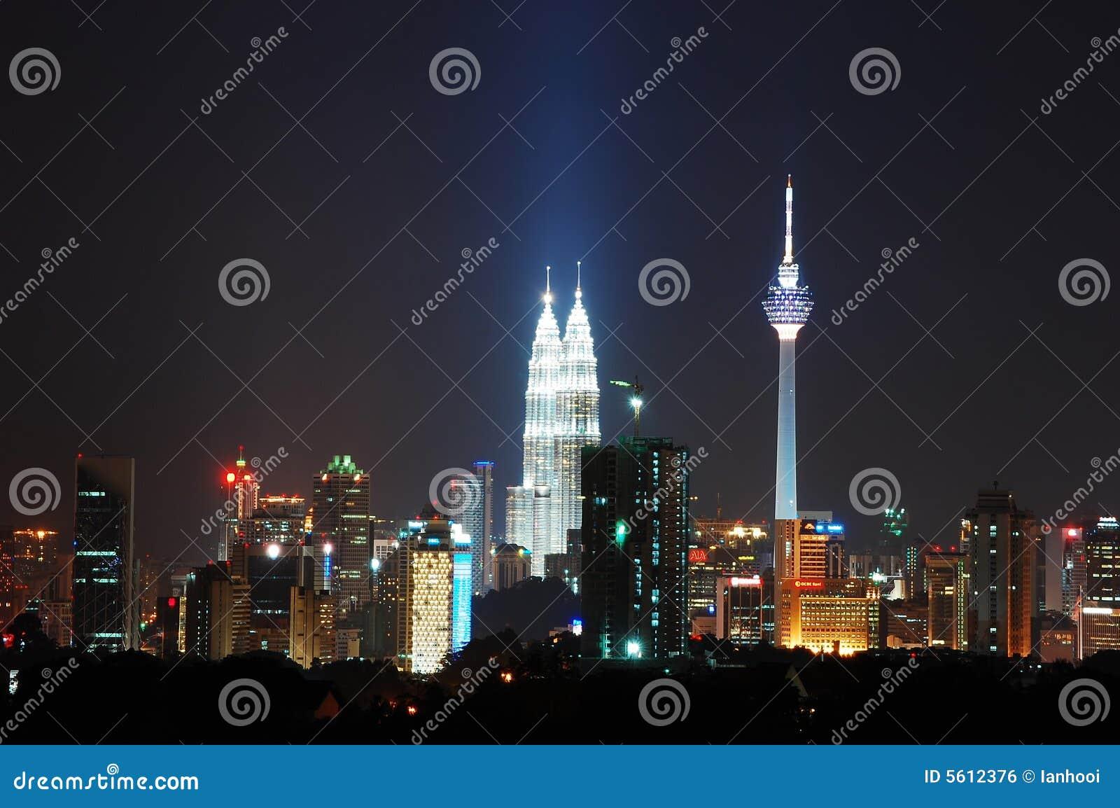 MittstadsKuala Lumpur natt