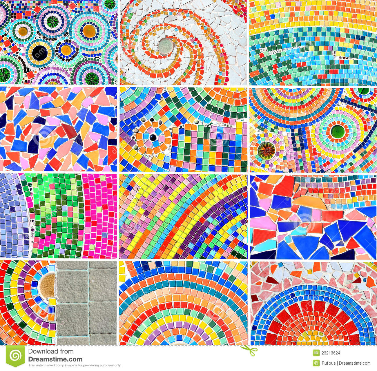 Mix Colorful Mosaic Background Stock Images Image 23213624