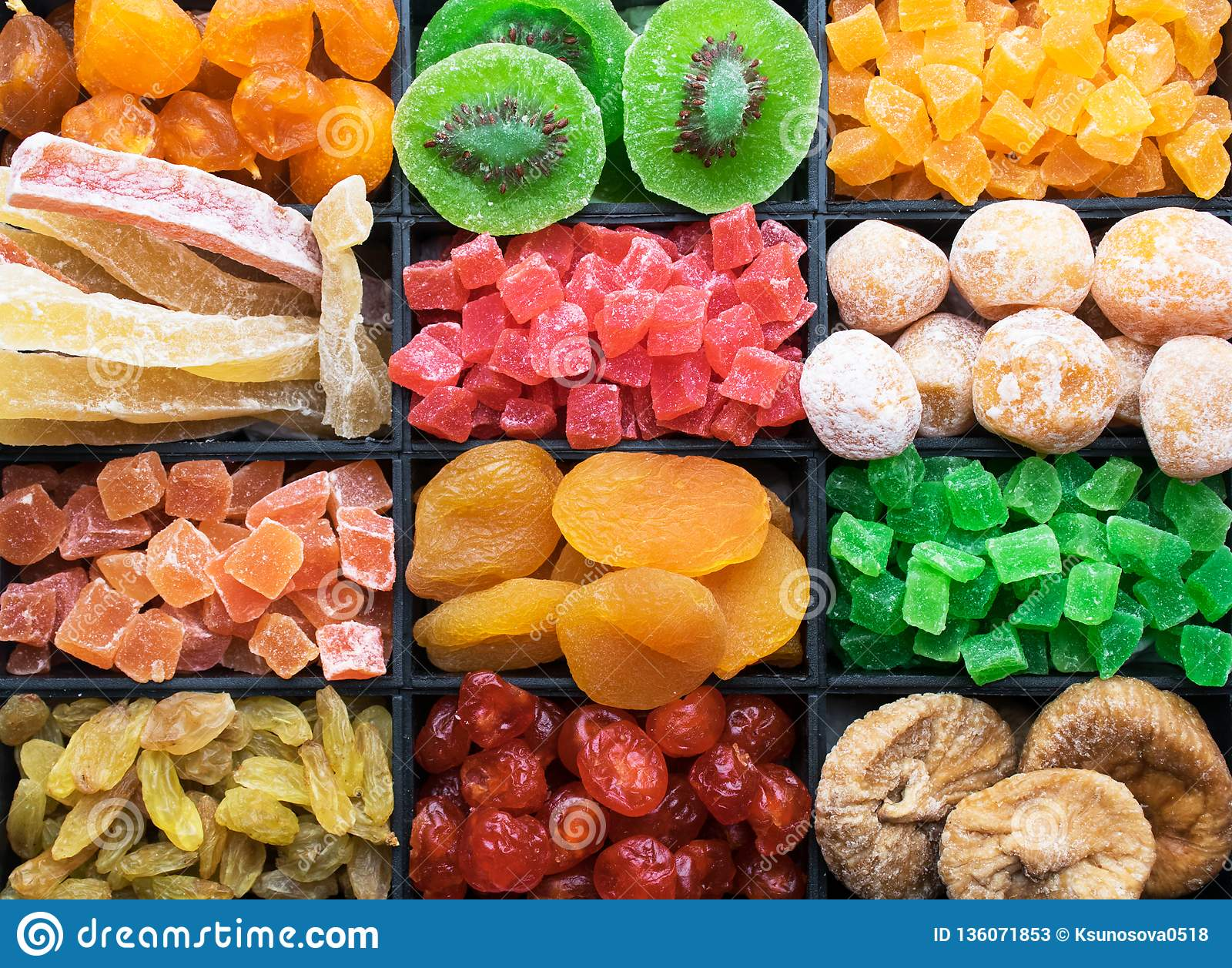 Mix Of Different Dried Fruits Stock Image - Image of food