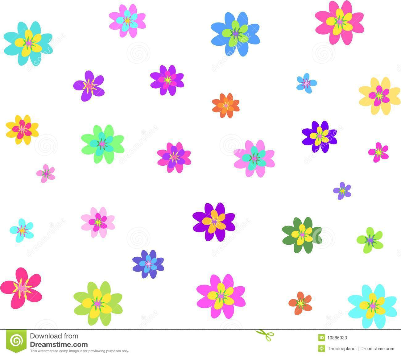 Here is a collection of flowers of different colors and sizes.