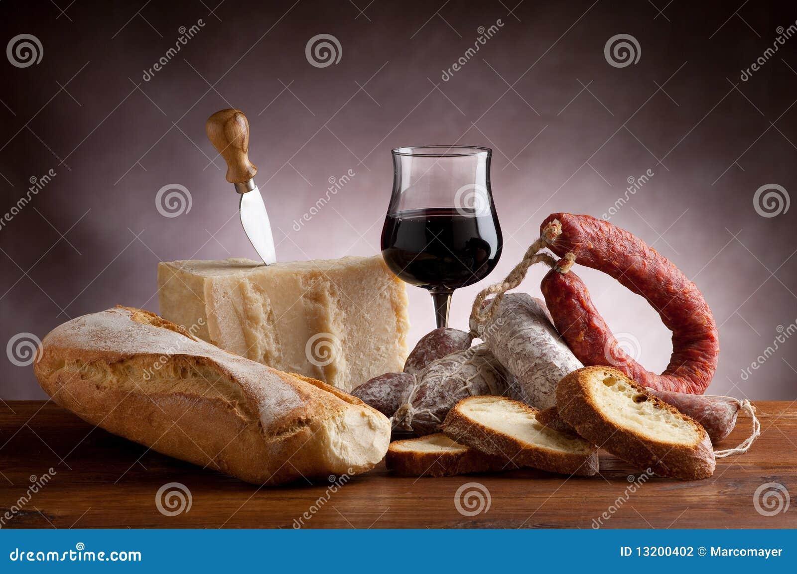 Mix of salami