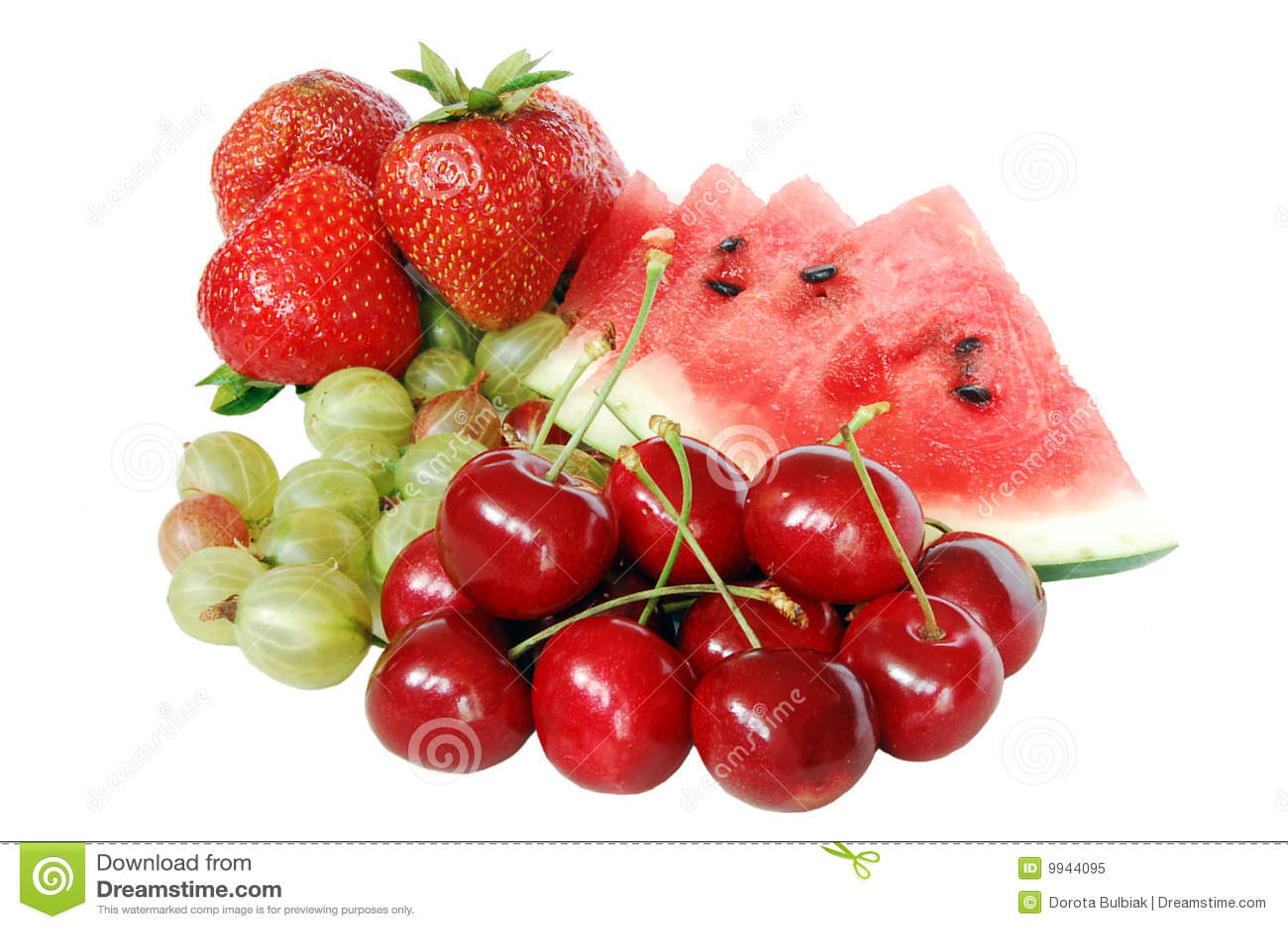 Mix of summer fruits