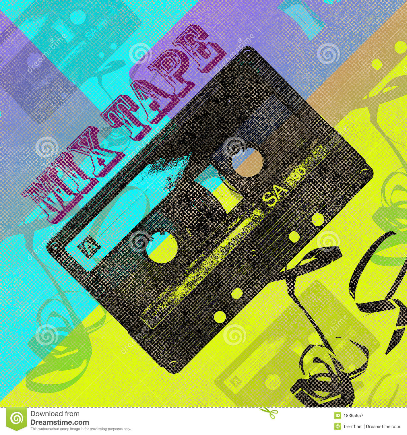 Mix Tape Cd Cover Royalty Free Stock Photography - Image: 18365957