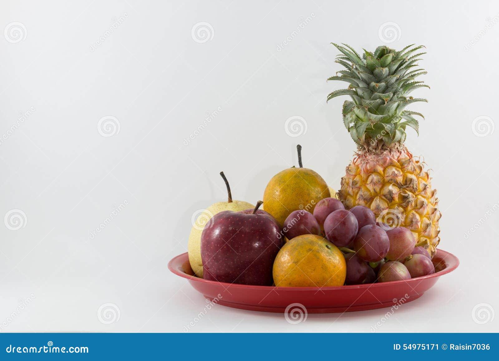 Mixe frukt på magasinet
