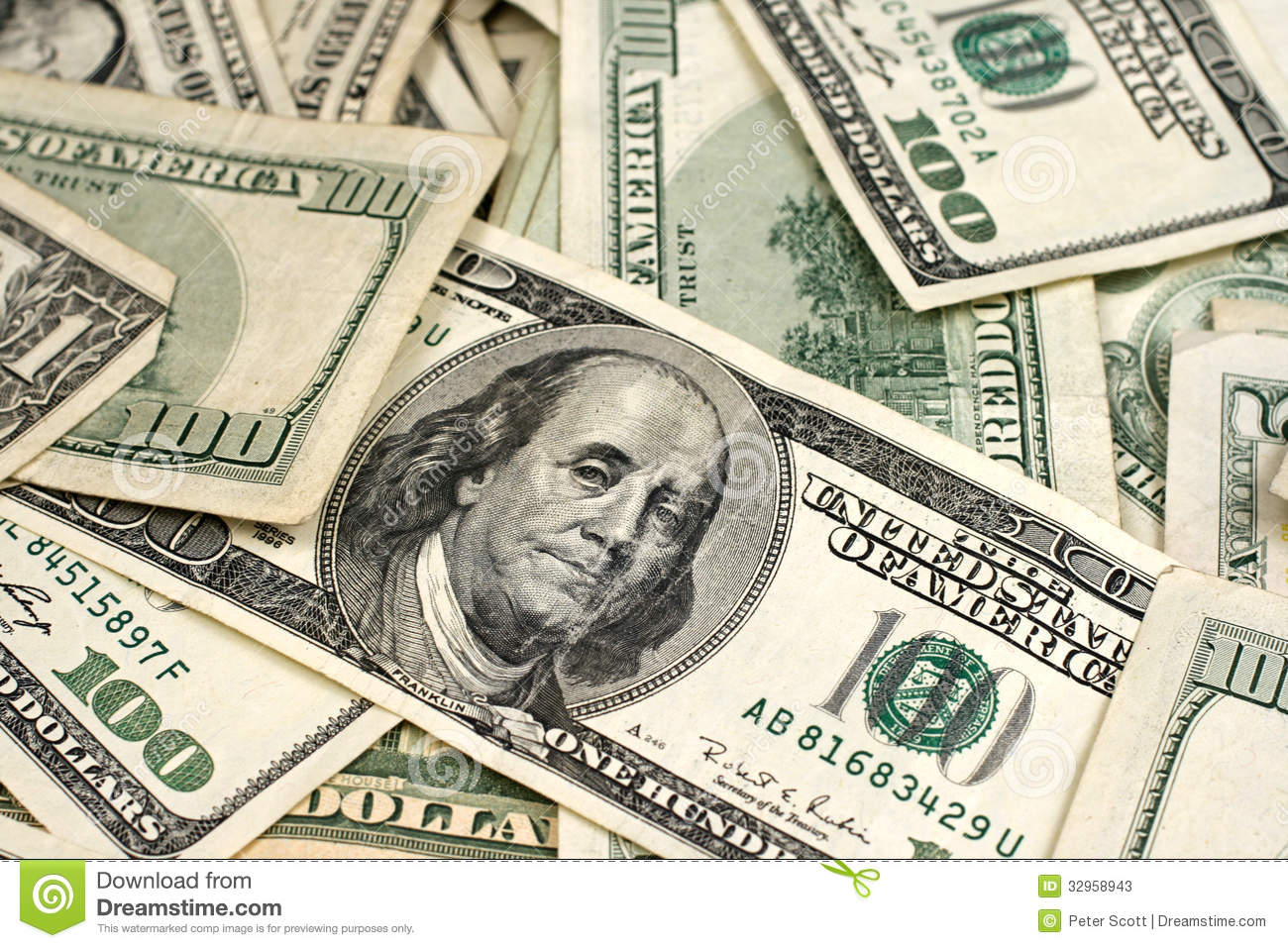 Mixed american currency stock photos image 32958943