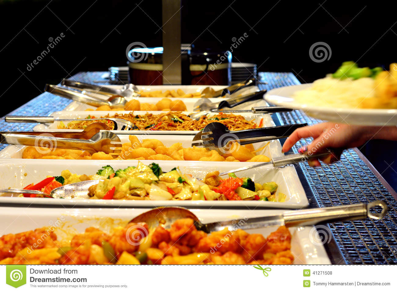 Mixed asian food on plates stock photo image of hosomaki for Asian cuisine buffet