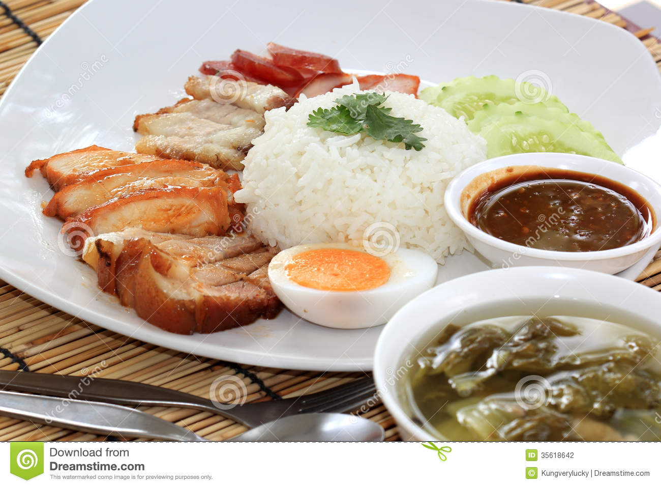 meal pork fried rice meal pork fried rice steamed pork with rice meal ...
