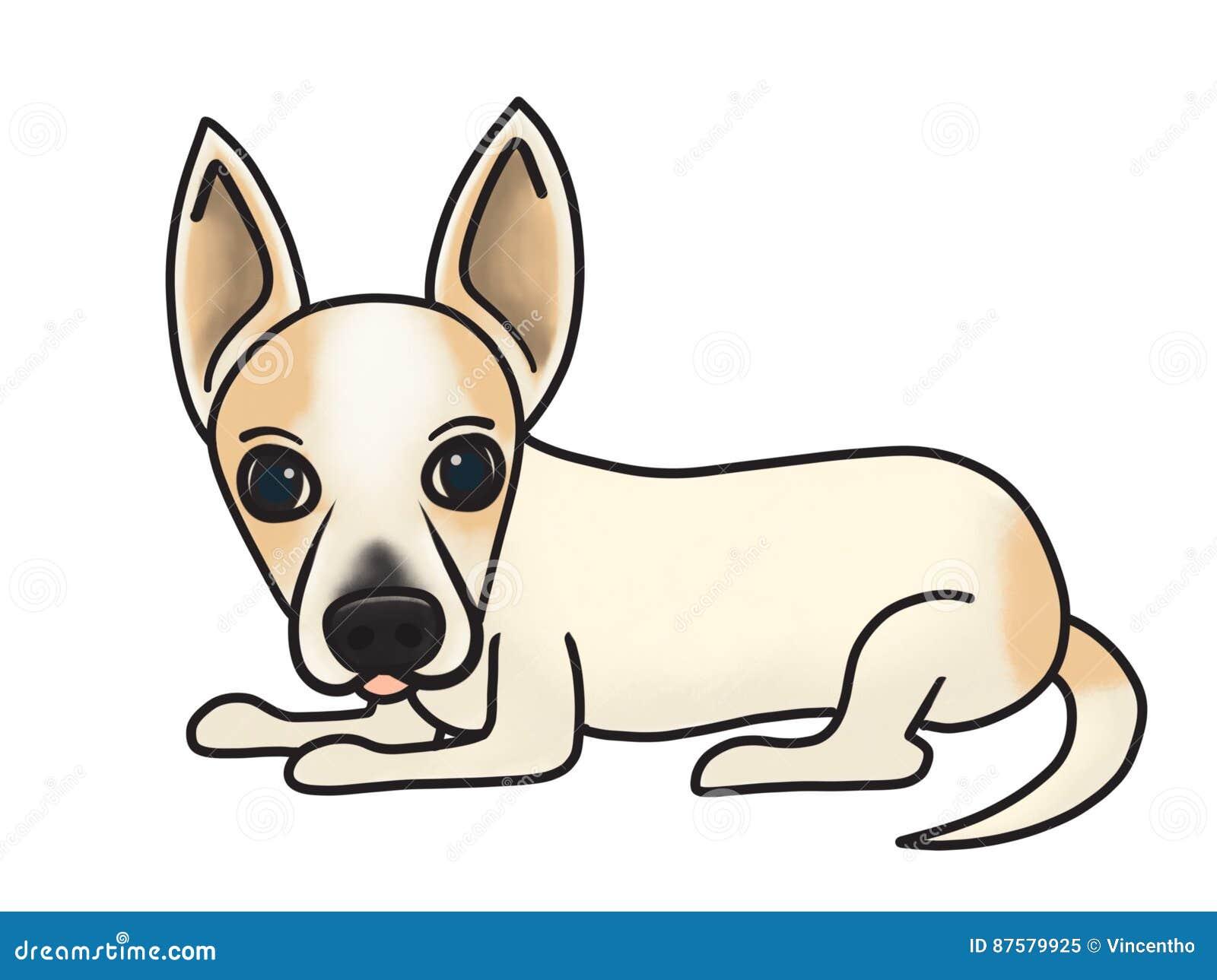 mixed breed dog support adoption cartoon illustration stock image