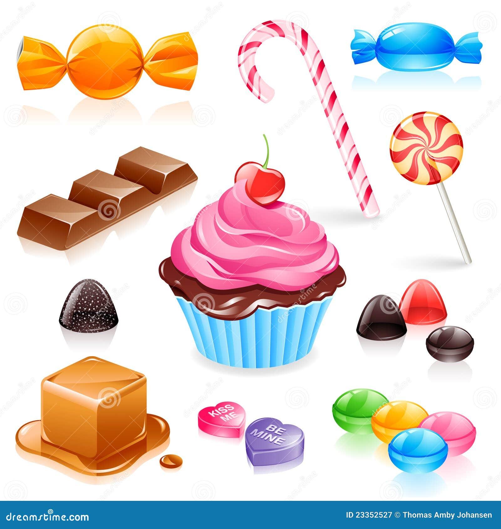 Mixed candy vector