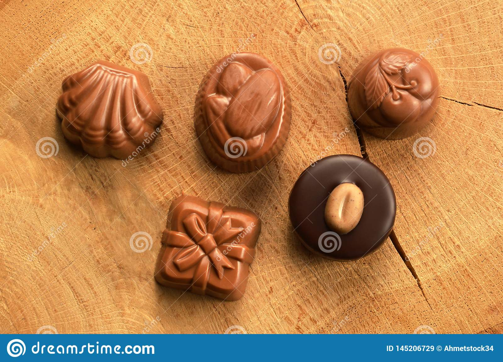 Mixed chocolate candies