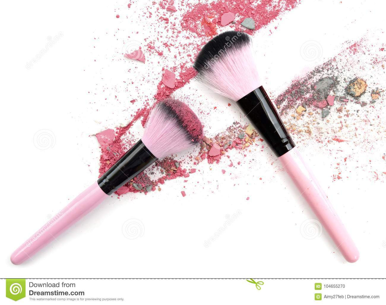 Mixed color crushed make up powder. Make up blush