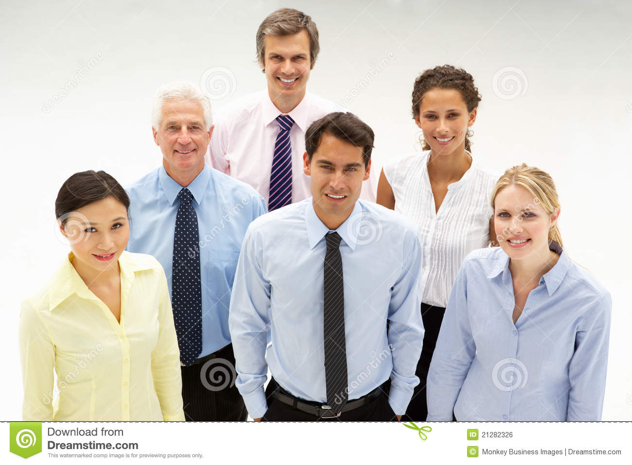 Mixed Ethnic Group Of Business People Royalty Free Stock ...