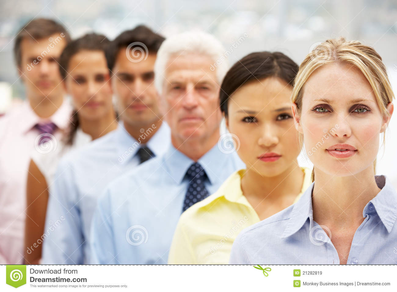 Mixed Ethnic Group Business People Royalty Free Stock ...