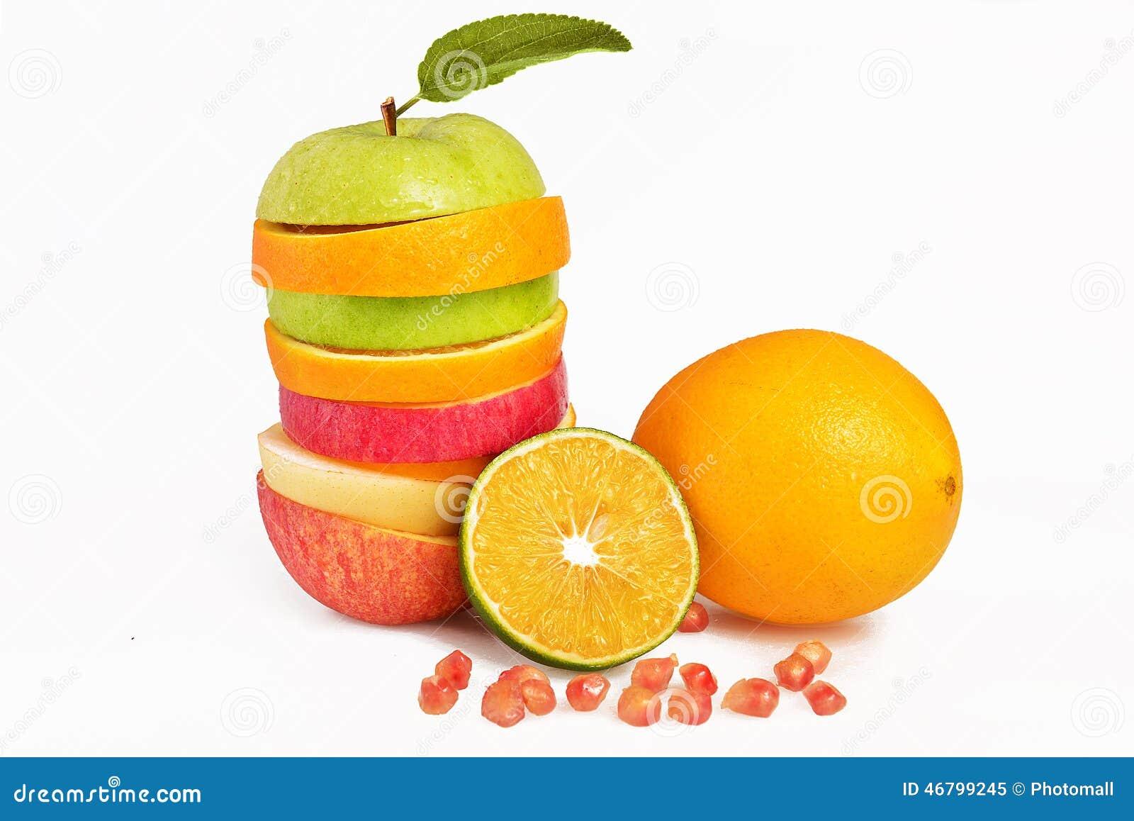 Mixed Fruit Slices,Fresh Fruit Salad,Apple Pear Orange And ...