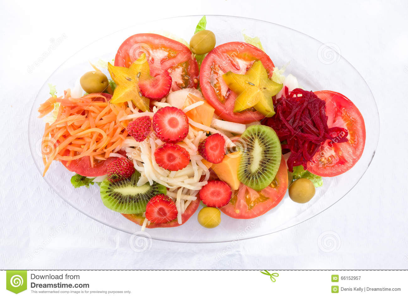 Mixed Fruit and Vegetable Salad