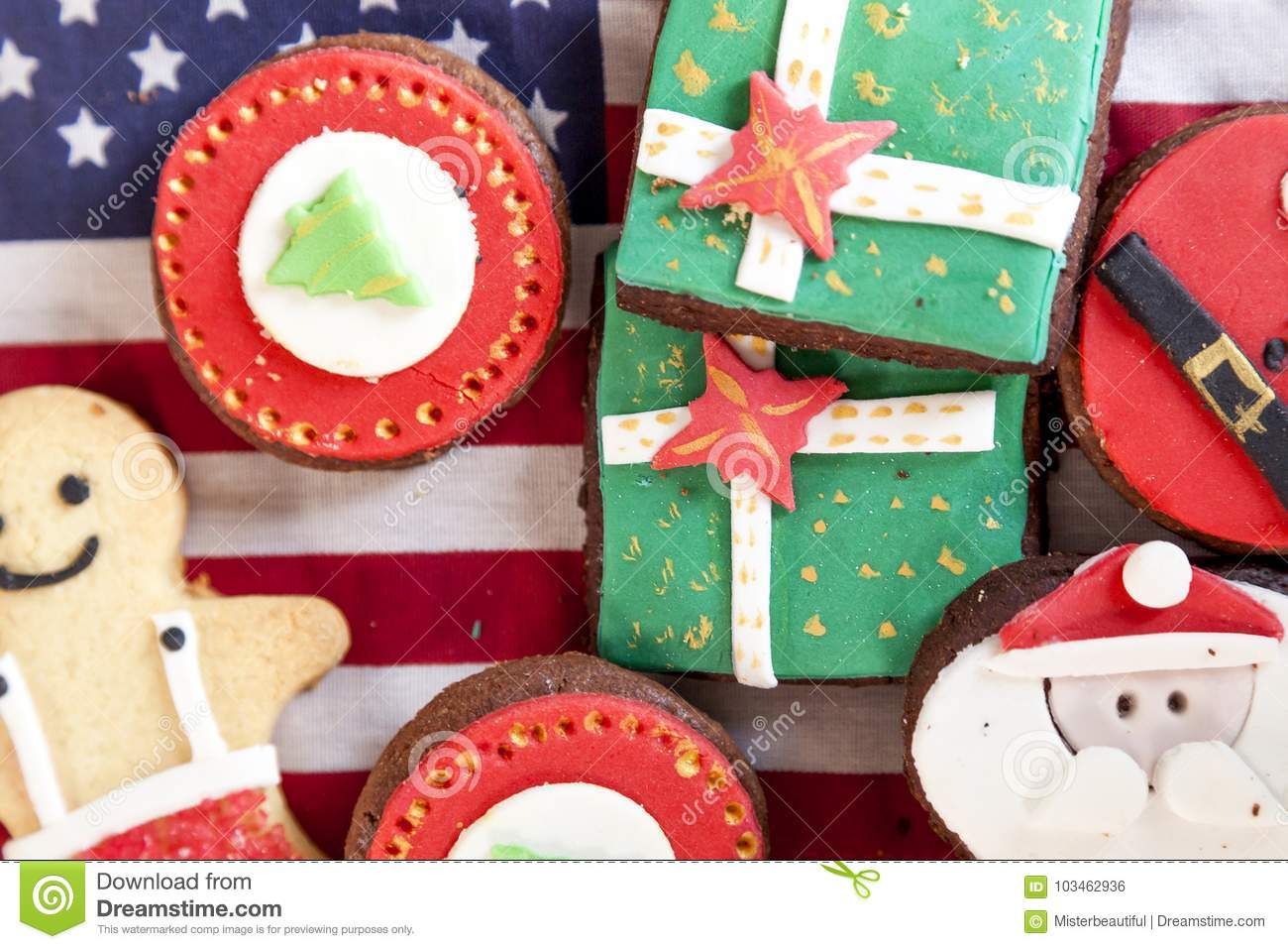 Mixed With Homemade Christmas Cookies Stock Photo Image Of