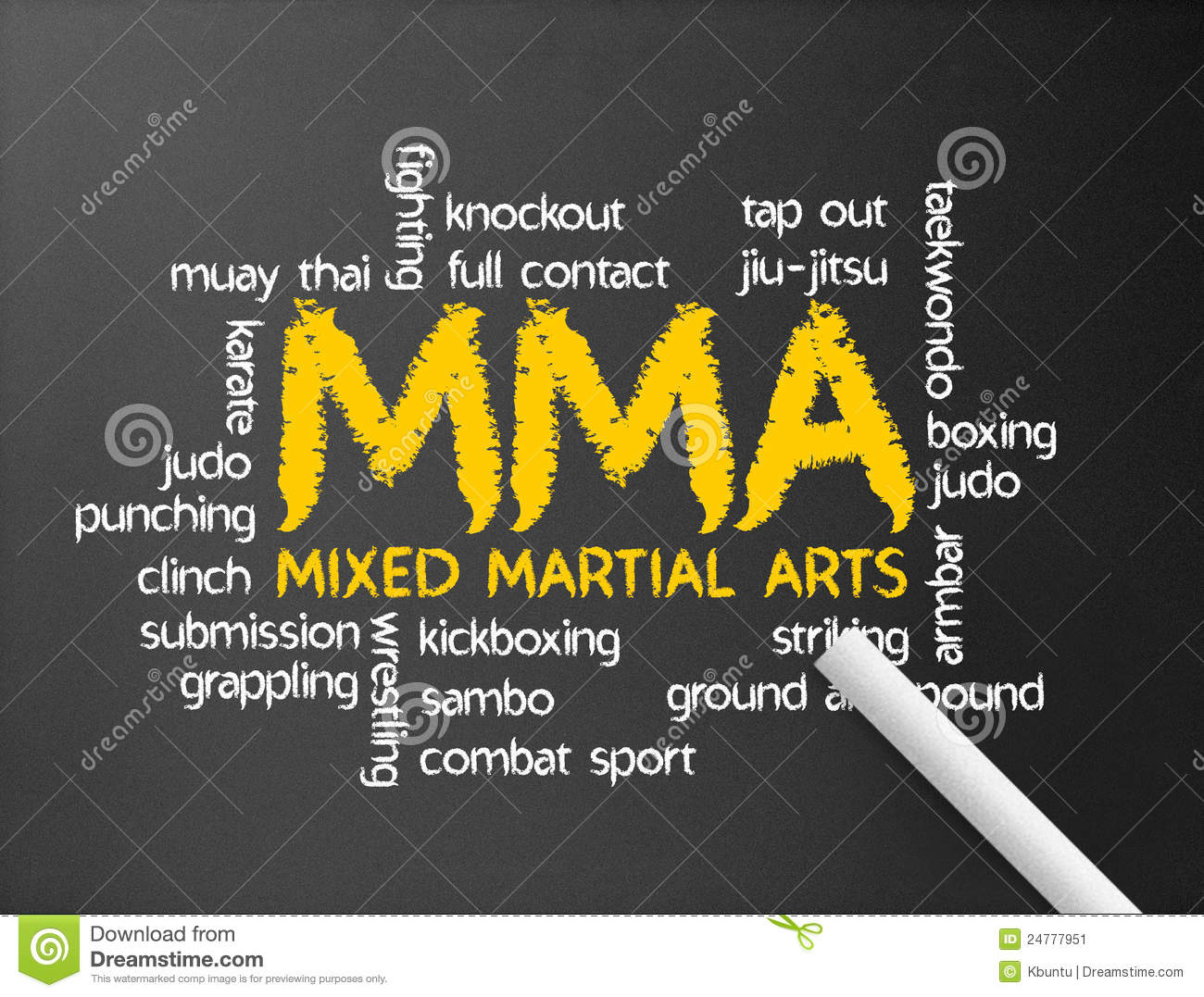 Mixed Martial Arts Stock Image - Image: 24777951