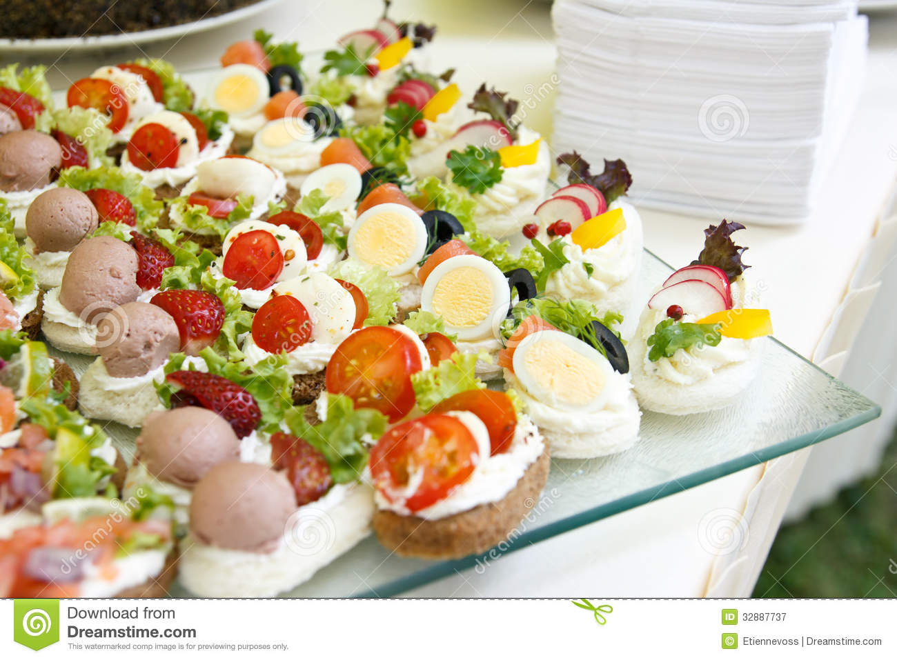 Mixed mini canapes stock image image of mini collection for Gourmet canape ideas