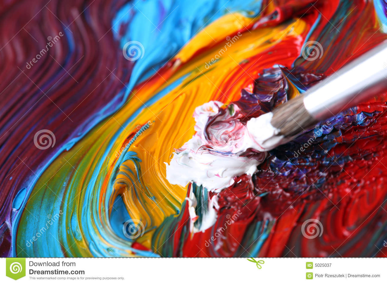 Paintbrush Oil Paints