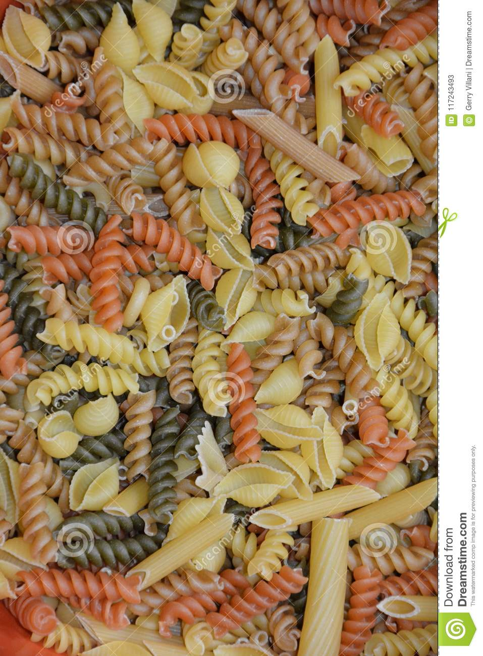 Download Mixed Pasta Noodle Shapes stock image. Image of color - 117243493