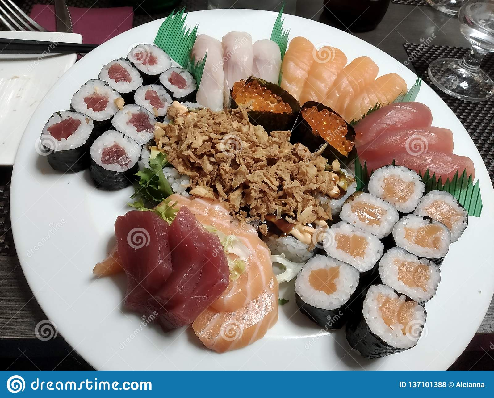 Mixed Sushi Boat At Japanese Restaurant Stock Photo Image Of Food Coffee 137101388 At sushi boat japanese restaurant we offer meals of excellent quality and invite you to try our delicious food. dreamstime com