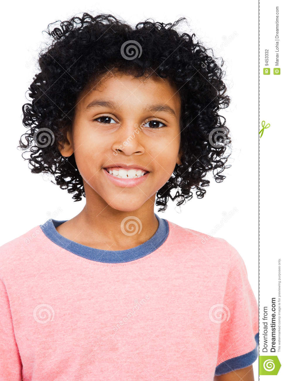 Mixed Race Boy Smiling Stock Photography Image 9453332