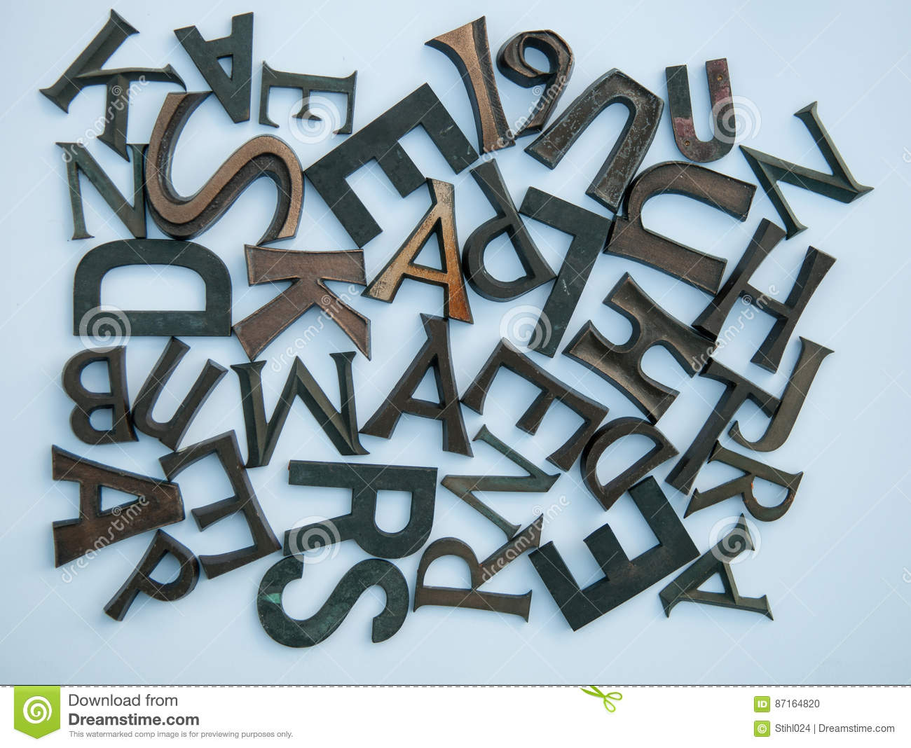 bunch of mixed up letters and characters of abc