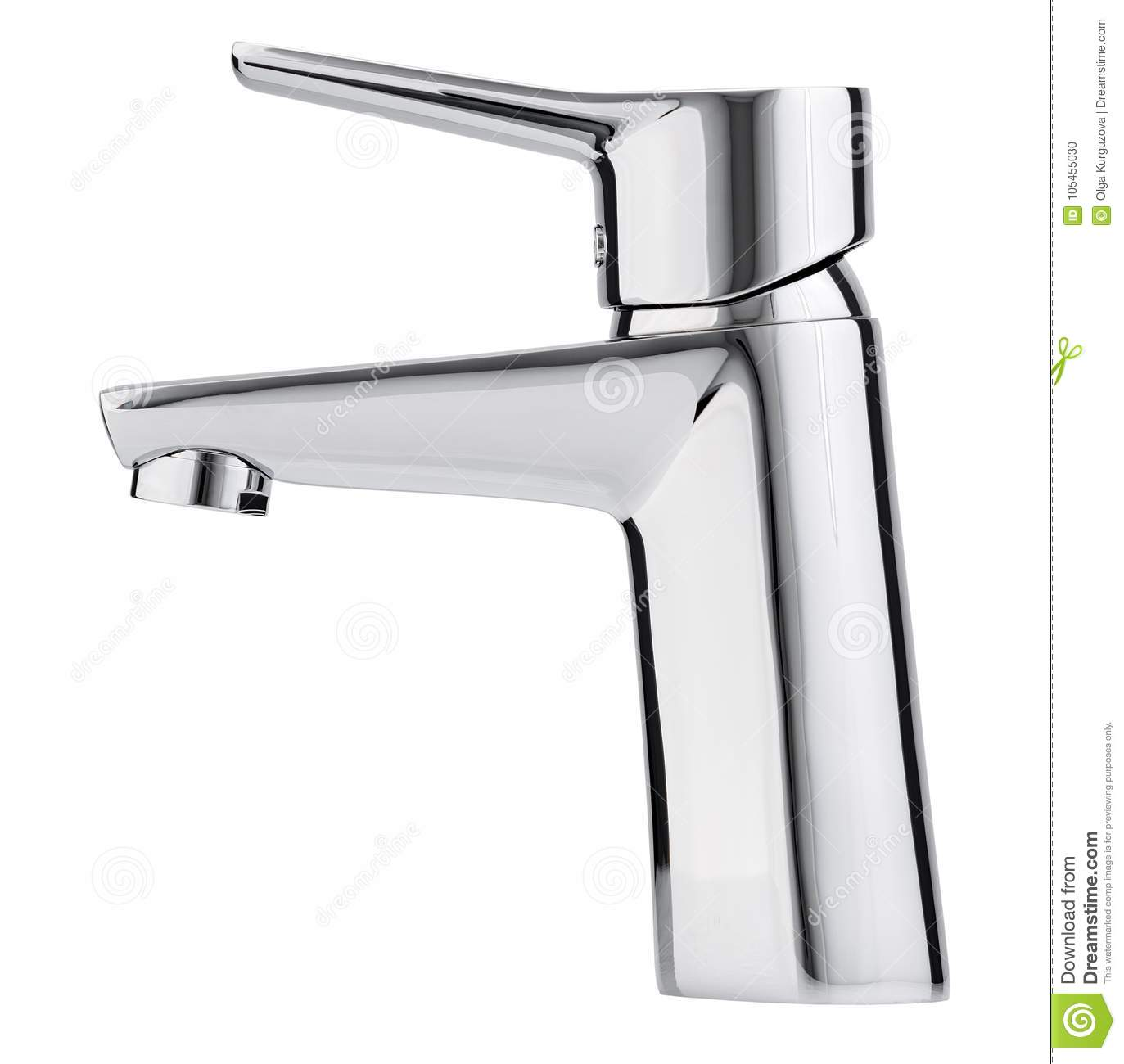 bathroom hot front photo view faucet tap stock water modern mixer background cold white kitchen isolated