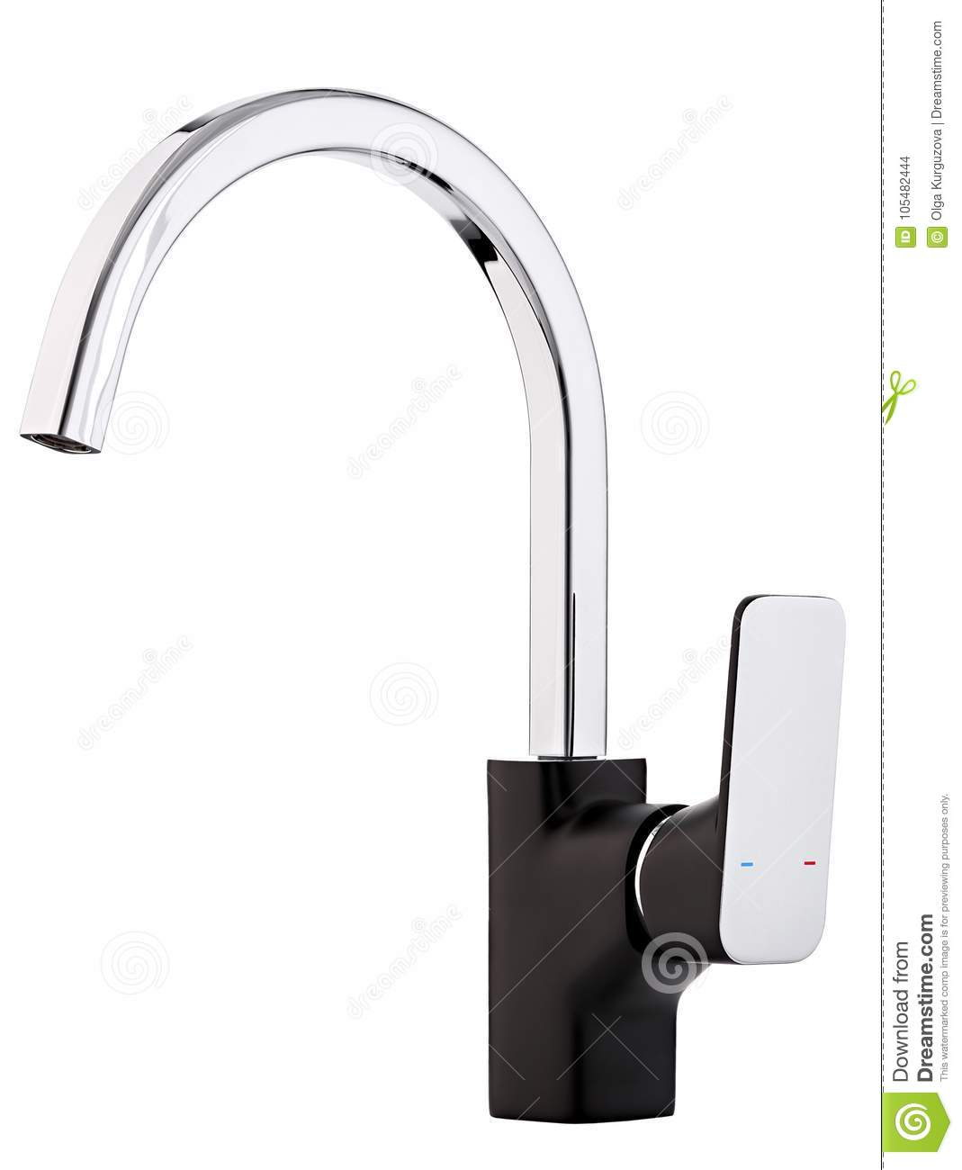 Mixer cold hot water. Modern faucet bathroom. Kitchen tap . I