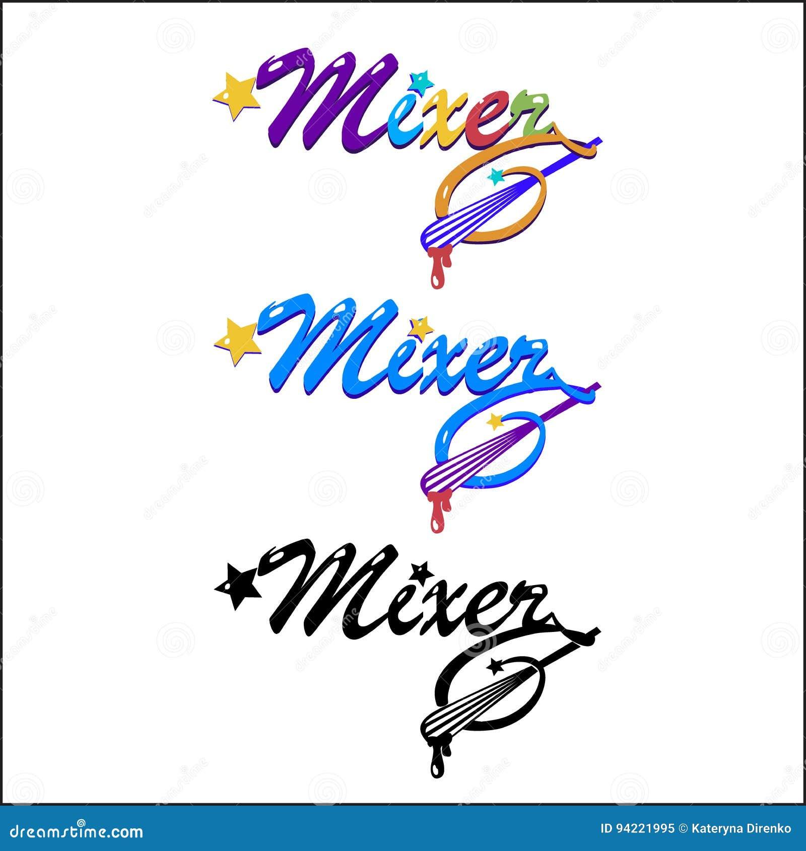 Mixer- 3 kinds of logos stock illustration  Illustration of