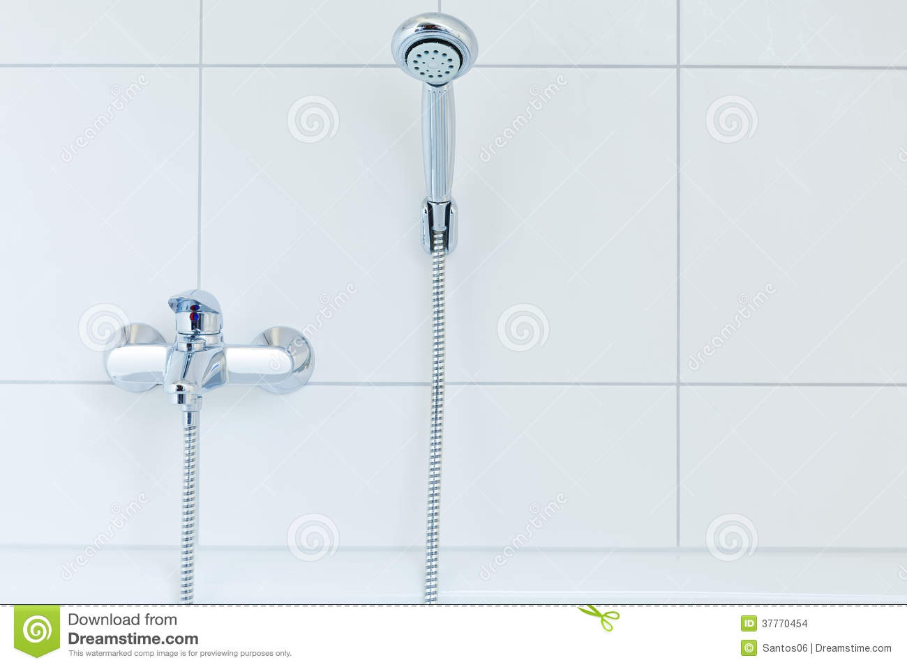 Mixer tap and shower head stock photo. Image of head - 37770454