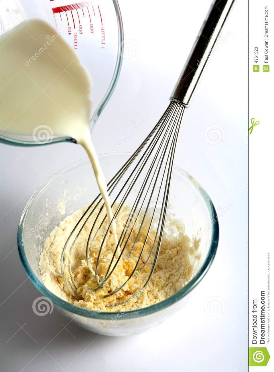 Mixing Batter Stock Image Image Of Cooking Pour