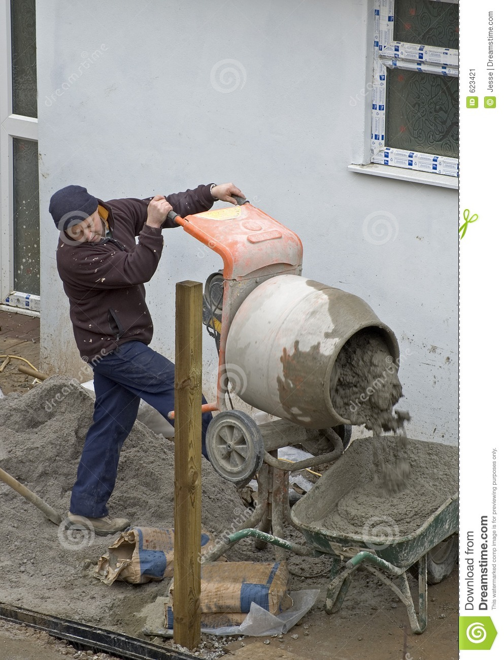 Concrete Mixing Animation : Mixing cement stock image