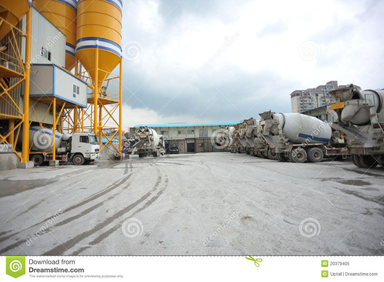 Concrete Mixing Animation : Mixing concrete delivery royalty free stock photo image