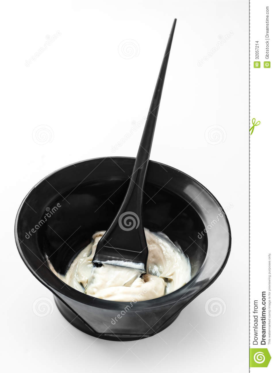 Mixing Hair Color In A Bowl Stock Images Image 32057214