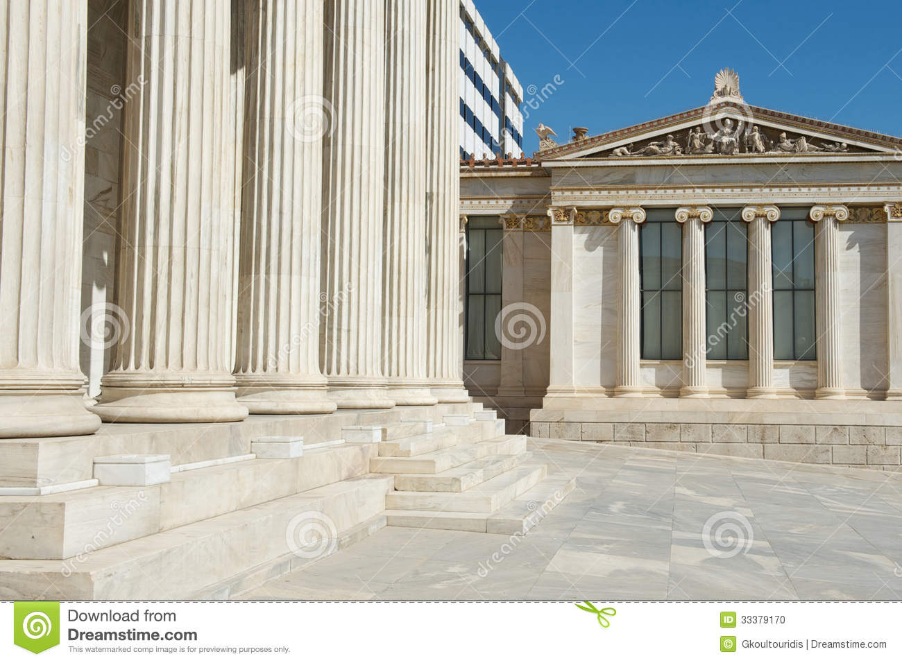 mixture of classic and modern architecture at athens