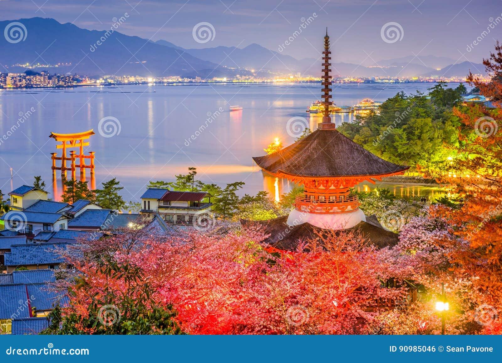 Miyajima, Japão na mola