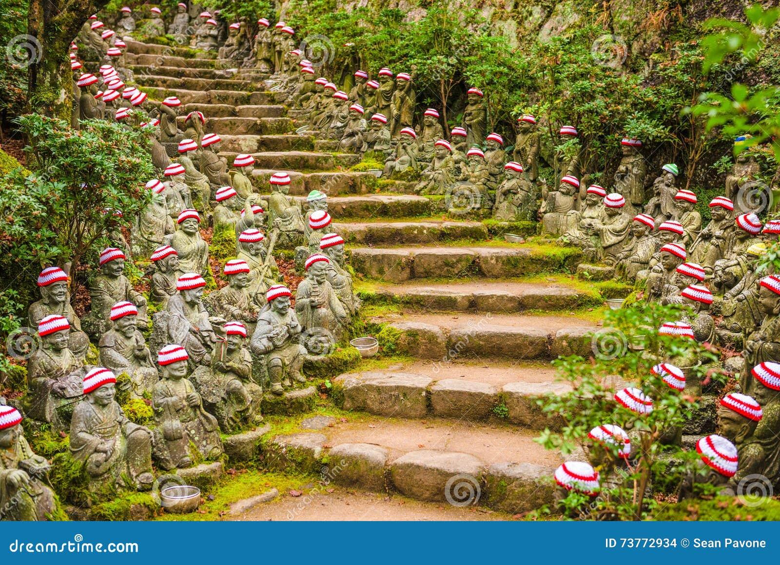 Miyajima, Japan Temple Grounds Stock Photo - Image of scenic, garden ...