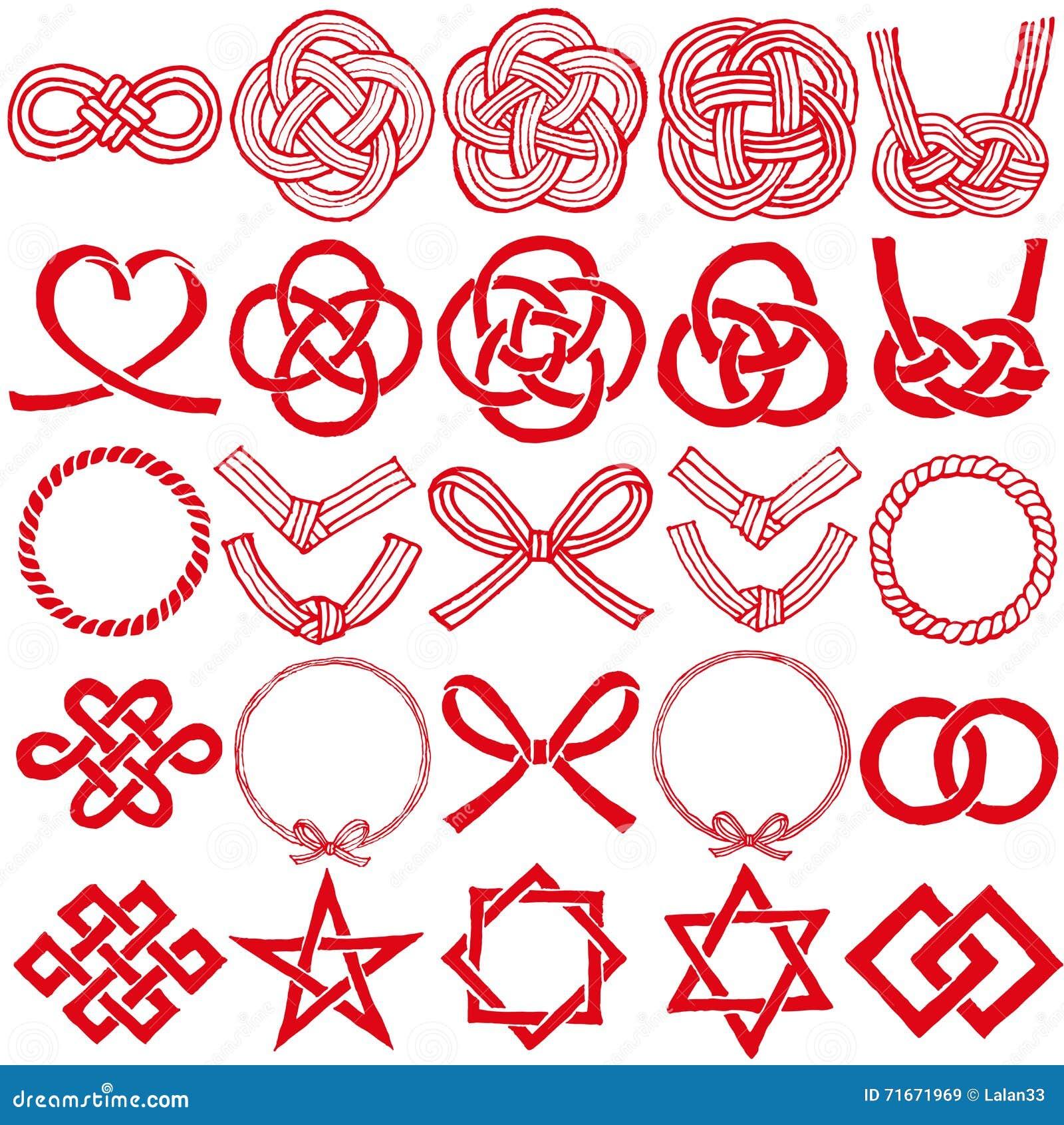 Mizuhiki and japanese family crests stock vector illustration mizuhiki and japanese family crests biocorpaavc Gallery