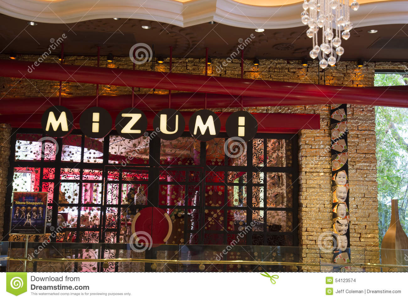 Mizumi Restaurant Inside Of The Wynn Hotel Las Vegas Editorial