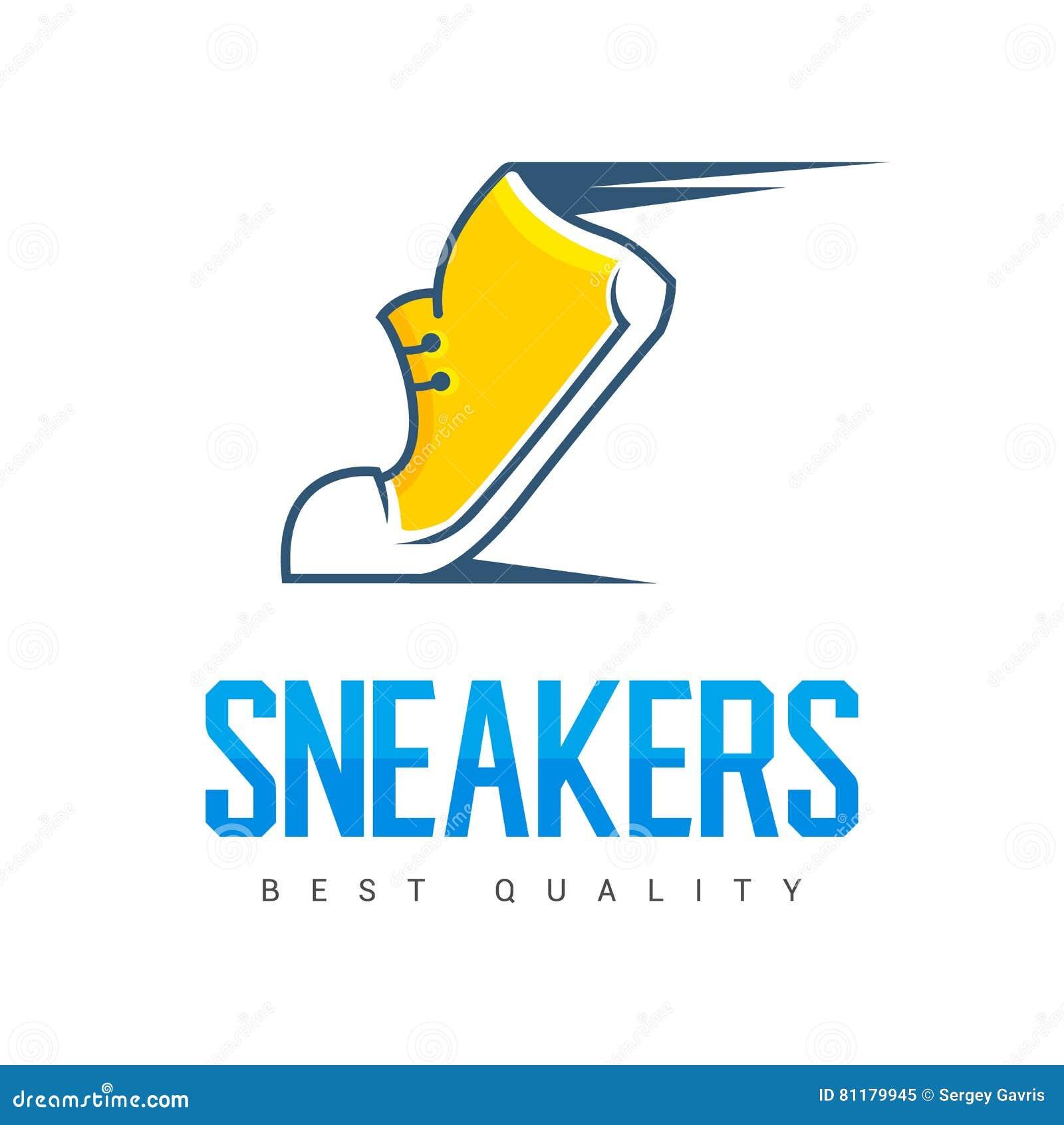 Mknięcie biega sporta obuwianego symbol, ikonę lub loga, etykietka buty kreatywne projektu również zwrócić corel ilustracji wekto