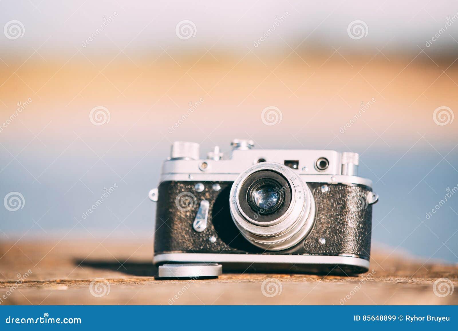 35mm weinlese alte retro klein format entfernungsmesser kamera auf