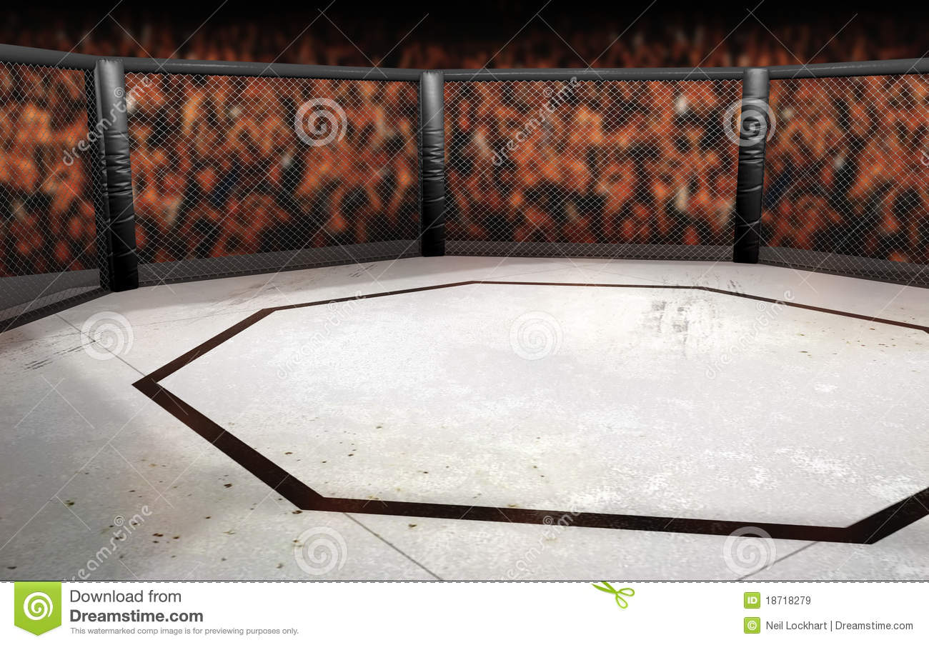 Mixed Martial Arts Octagon Cage Background for Ultimate Fighting ...