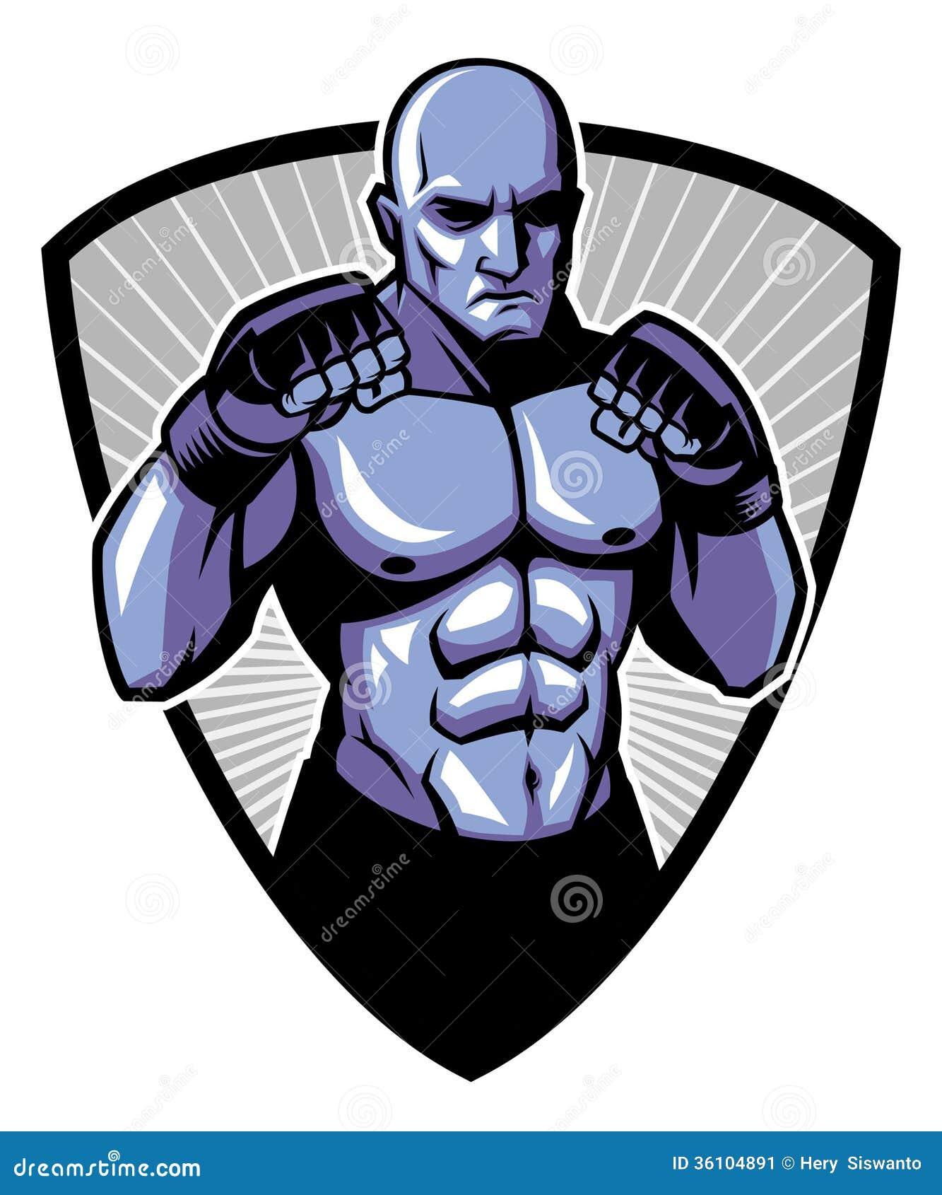 MMA-de vechter stelt
