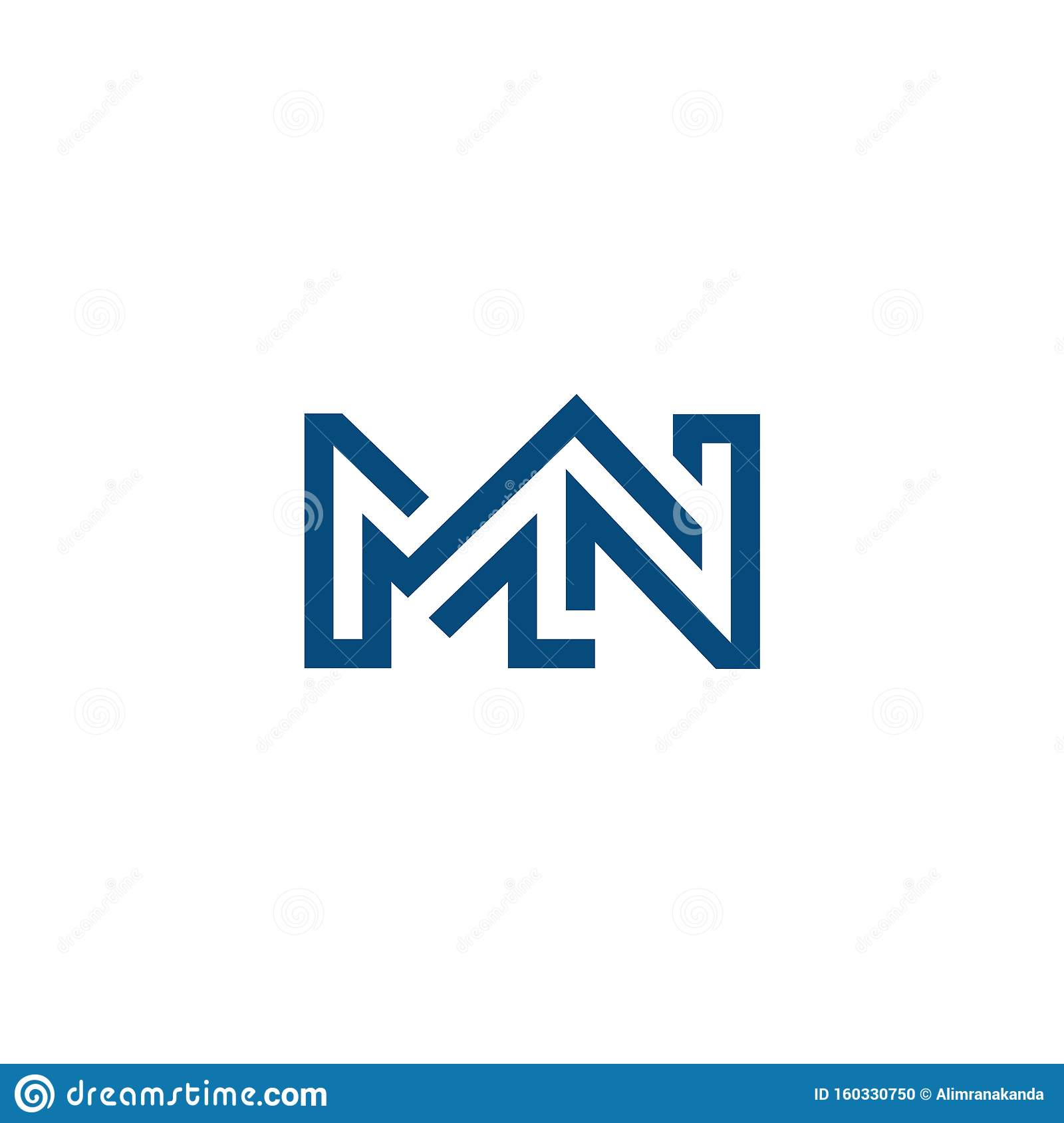 Mn Nm Logo Design Letter Base High Quality Logo Design Stock Vector Illustration Of Icon Initial 160330750