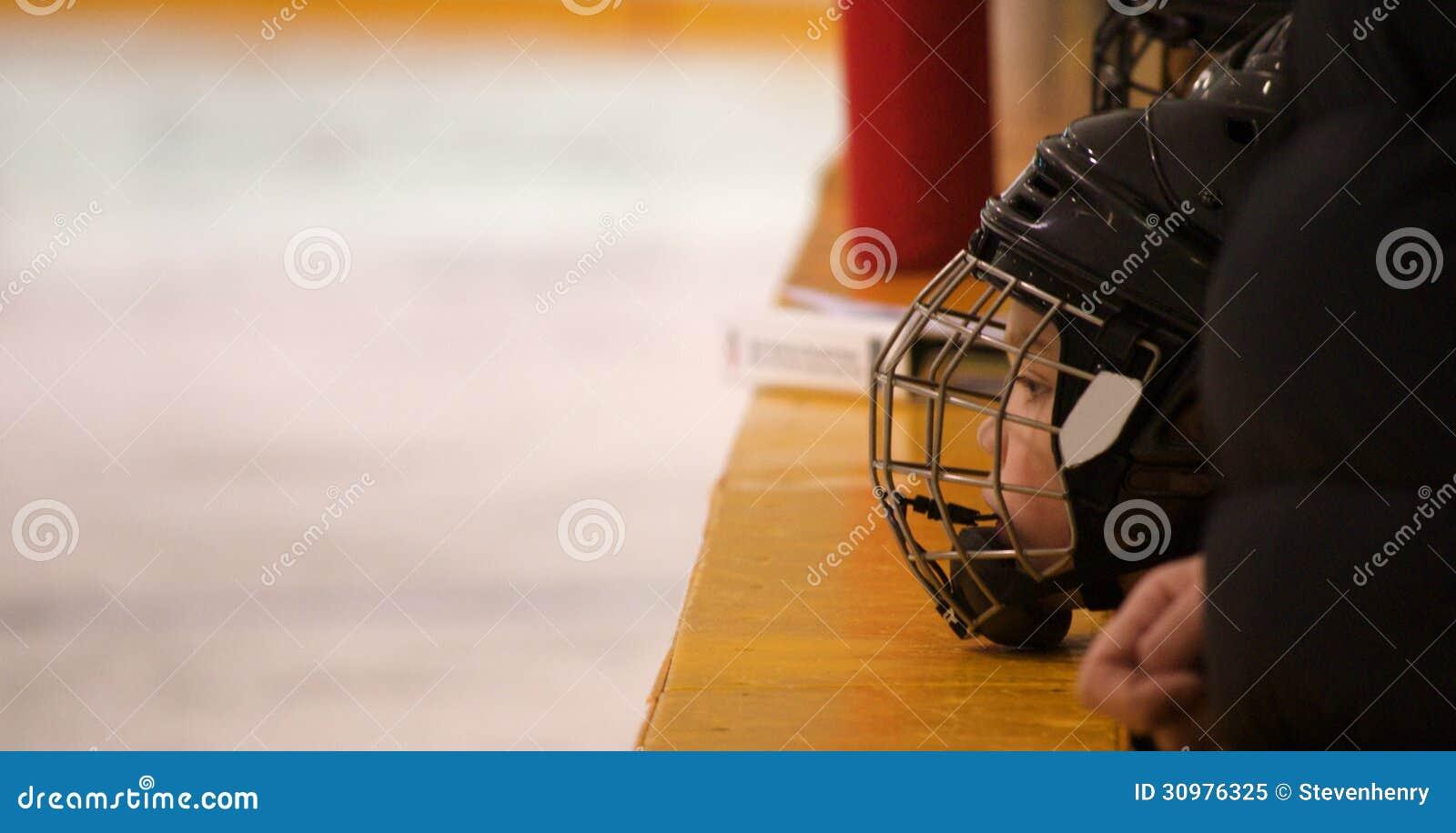Mniejszościowy gracz w hokeja na ławce