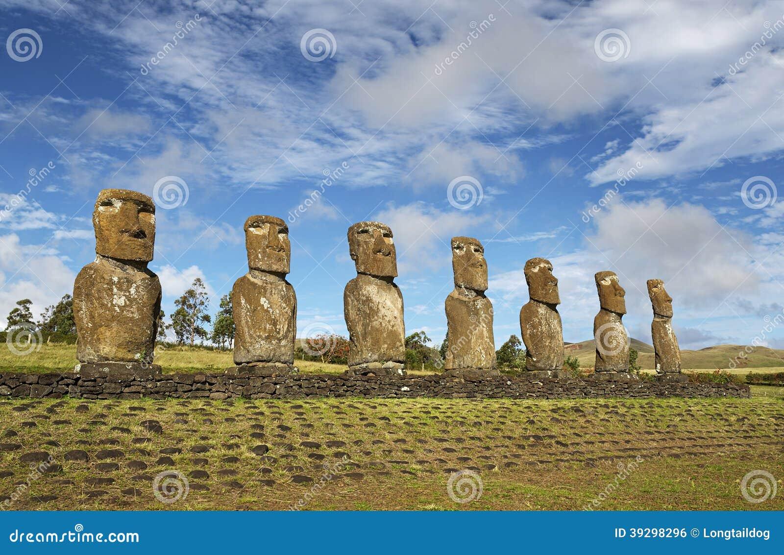 Moai, Ahu Akivi