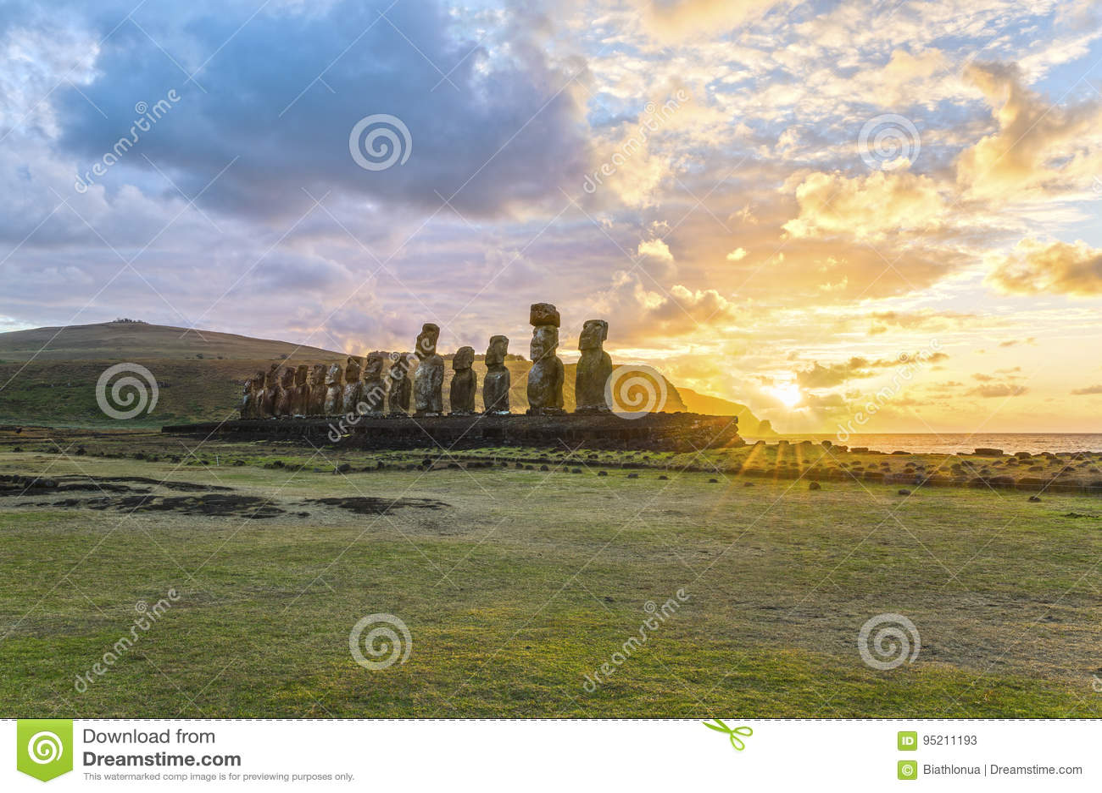Moai Ahu Tongariki, νησί Πάσχας, Χιλή